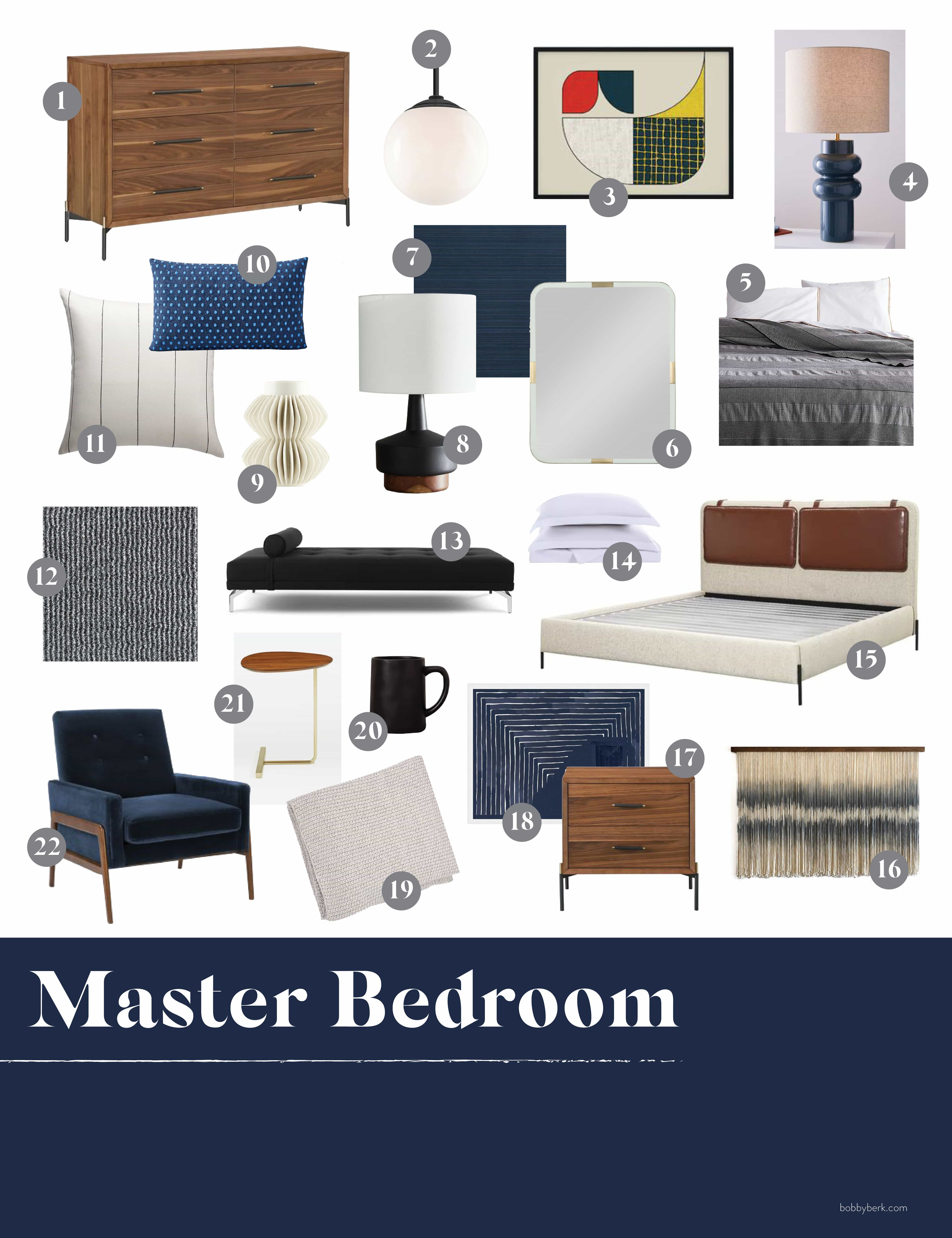 Image of: Mid Century Modernized Master Bedroom Bathroom And Everything You Need To Get The Look Bobby Berk